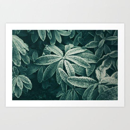 Frozen Greens Art Print