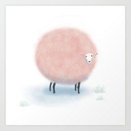 Sweet Dreams Cotton Candy Sheep Art Print