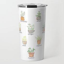 Herbs in Pots Travel Mug