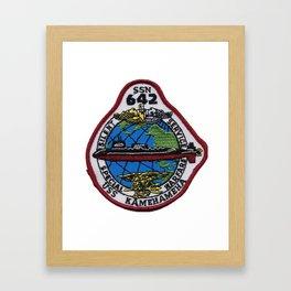 USS KAMEHAMEHA (SSN-642) PATCH Framed Art Print