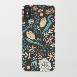 Tulip flowerbed, blue iPhone Case