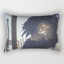 Black carnival mask in Venice Rectangular Pillow