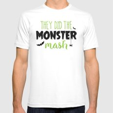 They Did The Monster Mash White Mens Fitted Tee MEDIUM