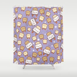 Space Toast Shower Curtain
