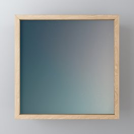 Dark Blue to Gray Faded Ombre Framed Mini Art Print