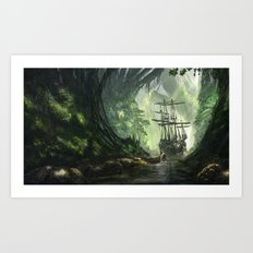 Un Pirate Art Print