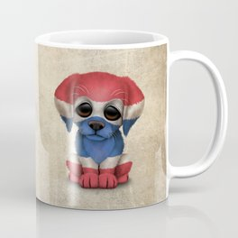 Cute Puppy Dog with flag of Thailand Coffee Mug