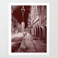 Red and Black New Orleans Art Print