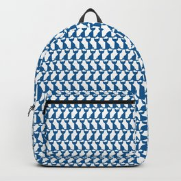 Cats blue pattern Backpack