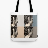 buddah Tote Bags featuring buddah heads by Shane Williams