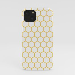 Honeycomb (Light Orange & White Pattern) iPhone Case