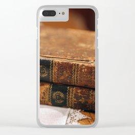 Antique Books Clear iPhone Case