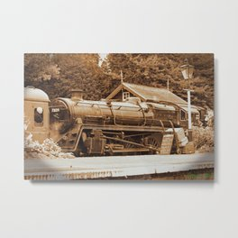 Sepia Stea engine 73129 Metal Print