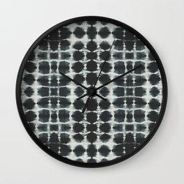 Black Shibori Wall Clock