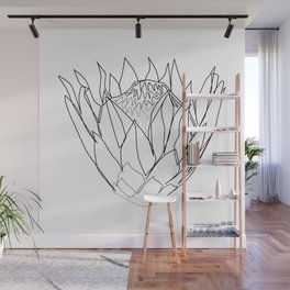 """""""Botanical Collection"""" - Protea Flower Wall Mural"""