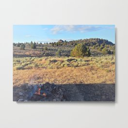 Campfire in the high desert Metal Print