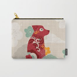 Oriental red dog. Chinese design. Year of the dog Carry-All Pouch