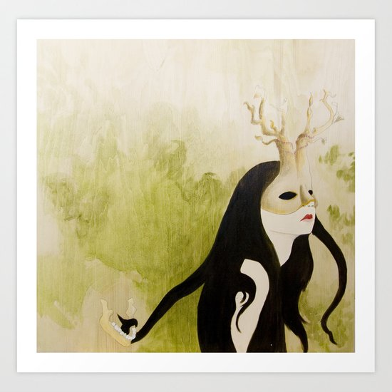The Husband Eater (painting) Art Print
