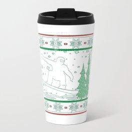 Snowboarding Christmas Travel Mug