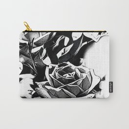 roses black-white Carry-All Pouch