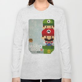mario bros 2 fan art Long Sleeve T-shirt