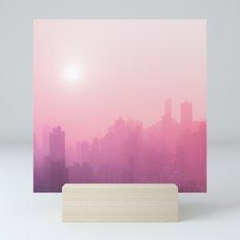 Pink City Skyline Mini Art Print