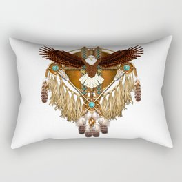 Bald Eagle Mandala Rectangular Pillow