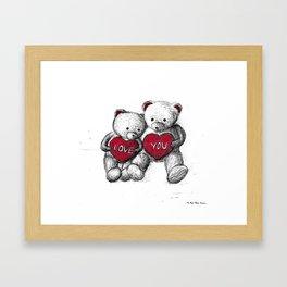 Bear: Valentine's Day Framed Art Print