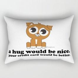 Pouting Pup | A Hug Would be Nice Rectangular Pillow