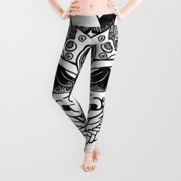 Oni Samurai Mask Leggings