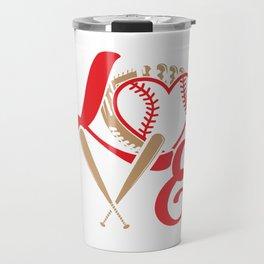 Baseball Lovers Softball Mom Fan Gift Travel Mug