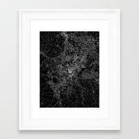 cincinnati Framed Art Prints featuring Cincinnati map by Line Line Lines