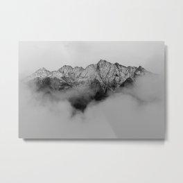 Mountains (Black and White) Metal Print