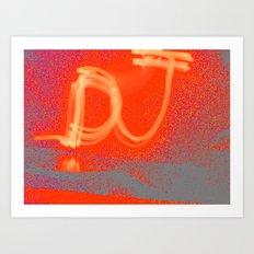 Light Graff: Dj Art Print