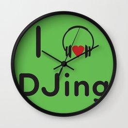 I heart DJing Wall Clock