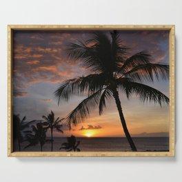 hawaiian sunset 2 Serving Tray