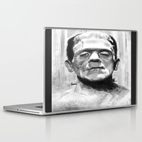 frankenstein Laptop & iPad Skins featuring Frankenstein by Leyla Buk