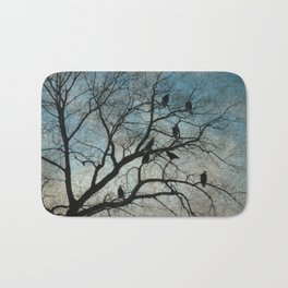 American Bald Eagles Roost Silhouette  Bath Mat
