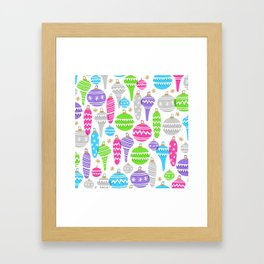 Jolly Ornaments Framed Art Print