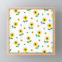 Tiny Sunflowers Framed Mini Art Print