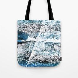 Gray Blue Marble wash drawing Tote Bag