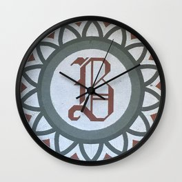 The B Wall Clock