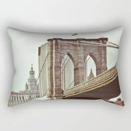 Brooklyn Bridge Vintage Rectangular Pillow