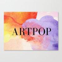 artpop Canvas Prints featuring ARTPOP  by IngCK