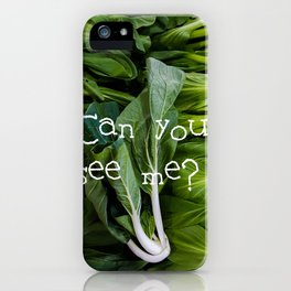 小白菜 - BABY BOK CHOY iPhone Case