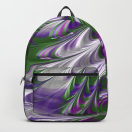 Purple and Green Abstract Backpack