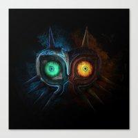 majora Canvas Prints featuring Majora Mask  by DavinciArt