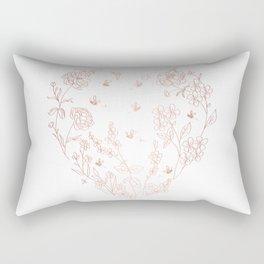 Bee Nice - rose gold & white Rectangular Pillow
