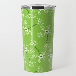 Green Neurons Travel Mug