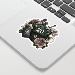 Rogue Class D20 - Tabletop Gaming Dice Sticker